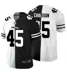 Jacksonville Jaguars 45 K 27Lavon Chaisson Men Black V White Peace Split Nike Vapor Untouchable Limited NFL Jersey