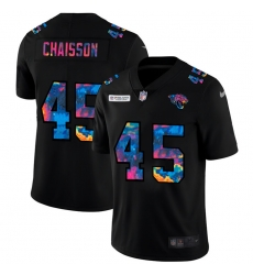 Jacksonville Jaguars 45 K 27Lavon Chaisson Men Nike Multi Color Black 2020 NFL Crucial Catch Vapor Untouchable Limited Jersey
