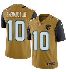 Nike Jaguars 10 Laviska Shenault Jr  Gold Men Stitched NFL Limited Rush Jersey