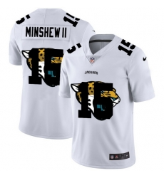 Nike Jaguars 15 Gardner Minshew II White Shadow Logo Limited Jersey