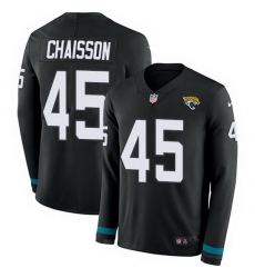 Nike Jaguars 45 K 27Lavon Chaisson Black Team Color Men Stitched NFL Limited Therma Long Sleeve Jersey