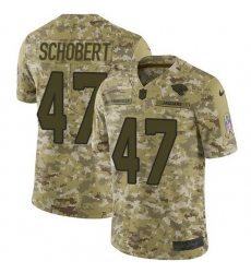 Nike Jaguars 47 Joe Schobert Camo Men Stitched NFL Limited 2018 Salute To Service Jersey