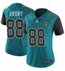 Women Nike Jaguars 88 Tyler Eifert Vapor Untouchable Limited Jersey Teal