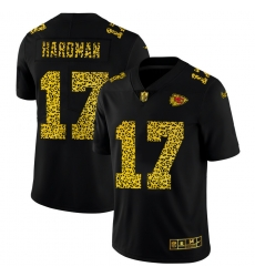 Kansas City Chiefs 17 Mecole Hardman Men Nike Leopard Print Fashion Vapor Limited NFL Jersey Black