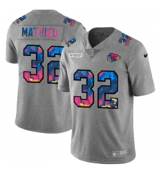 Kansas City Chiefs 32 Tyrann Mathieu Men Nike Multi Color 2020 NFL Crucial Catch NFL Jersey Greyheather