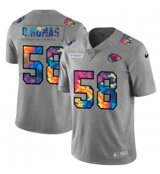 Kansas City Chiefs 58 Derrick Thomas Men Nike Multi Color 2020 NFL Crucial Catch NFL Jersey Greyheather