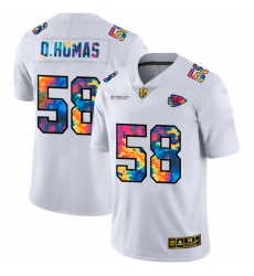 Kansas City Chiefs 58 Derrick Thomas Men White Nike Multi Color 2020 NFL Crucial Catch Limited NFL Jersey