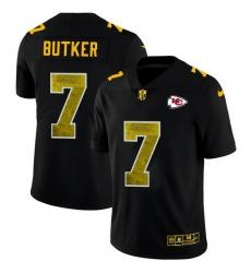 Kansas City Chiefs 7 Harrison Butker Men Black Nike Golden Sequin Vapor Limited NFL Jersey
