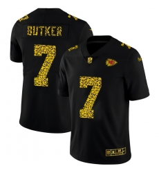 Kansas City Chiefs 7 Harrison Butker Men Nike Leopard Print Fashion Vapor Limited NFL Jersey Black