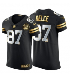 Kansas City Chiefs 87 Travis Kelce Men Nike Black Edition Vapor Untouchable Elite NFL Jersey