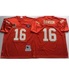 Men Kansas City Chiefs 16 Lake Dawson Red M&N Throwback Jersey