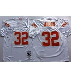 Men Kansas City Chiefs 32 Marcus Allen White M&N Throwback Jersey