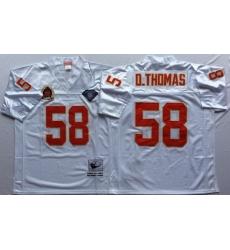 Men Kansas City Chiefs 58 Derrick Thomas White M&N Throwback Jersey