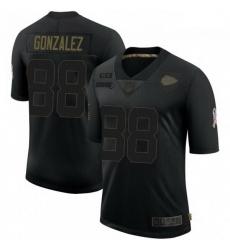 Men Kansas City Chiefs 88 Tony Gonzalez Black 2020 Salute To Service Limited Jersey