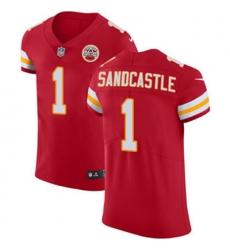 Nike Chiefs #1 Leon Sandcastle Red Team Color Mens Stitched NFL Vapor Untouchable Elite Jersey