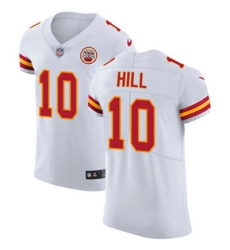 Nike Chiefs #10 Tyreek Hill White Mens Stitched NFL Vapor Untouchable Elite Jersey
