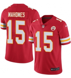 Nike Chiefs #15 Patrick Mahomes Red Team Color Mens Stitched NFL Vapor Untouchable Limited Jersey