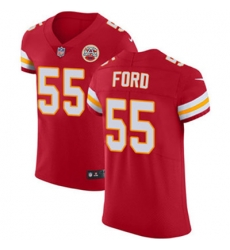 Nike Chiefs #55 Dee Ford Red Team Color Mens Stitched NFL Vapor Untouchable Elite Jersey