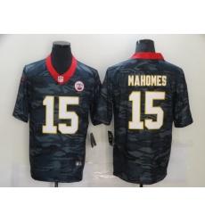 Nike Kansas City Chiefs 15 Patrick Mahomes Black Camo Limited Jersey