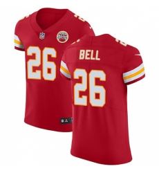 Nike Kansas City Chiefs 26 Le 27Veon Bell Red Team Color Men Stitched NFL Vapor Untouchable Elite Jersey