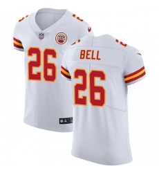 Nike Kansas City Chiefs 26 Le 27Veon Bell White Men Stitched NFL New Elite Jersey
