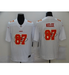 Nike Kansas City Chiefs 87 Travis Kelce White Shadow Logo Limited Jersey