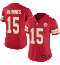 Nike Chiefs #15 Patrick Mahomes Red Team Color Womens Stitched NFL Vapor Untouchable Limited Jersey