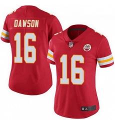 Women Kansas City Chiefs 16 Len Dawson Red Vapor Limited Jersey
