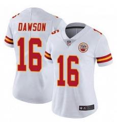 Women Kansas City Chiefs 16 Len Dawson White Vapor Limited Jersey
