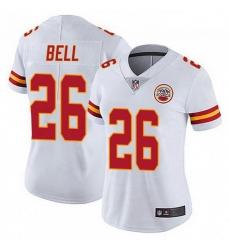 Women Kansas City Chiefs 26 Le'Veon Bell White Color Vapor Untouchable Limited Jersey
