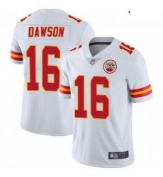 Youth Kansas City Chiefs 16 Len Dawson White Vapor Limited Jersey