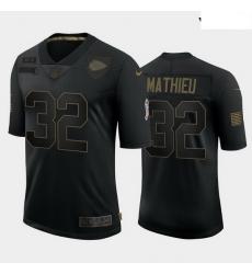 Youth Kansas City Chiefs 32 Tyrann Mathieu Black Camo 2020 Salute To Service Limited Jersey