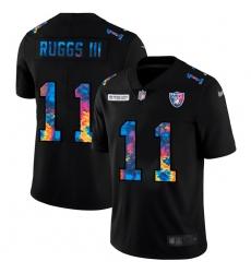 Las Vegas Raiders 11 Henry Ruggs III Men Nike Multi Color Black 2020 NFL Crucial Catch Vapor Untouchable Limited Jersey