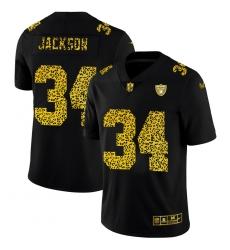 Las Vegas Raiders 34 Bo Jackson Men Nike Leopard Print Fashion Vapor Limited NFL Jersey Black
