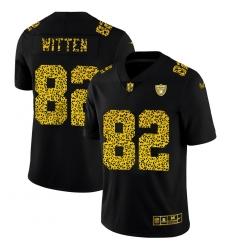 Las Vegas Raiders 82 Jason Witten Men Nike Leopard Print Fashion Vapor Limited NFL Jersey Black