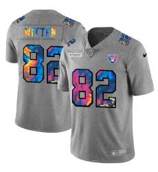 Las Vegas Raiders 82 Jason Witten Men Nike Multi Color 2020 NFL Crucial Catch NFL Jersey Greyheather