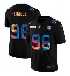 Las Vegas Raiders 96 Clelin Ferrell Men Nike Multi Color Black 2020 NFL Crucial Catch Vapor Untouchable Limited Jersey