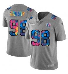 Las Vegas Raiders 98 Maxx Crosby Men Nike Multi Color 2020 NFL Crucial Catch NFL Jersey Greyheather