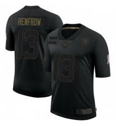 Men Las Vegas Raiders 13 Hunter Renfrow 2020 Black Salute To Service Limited Jersey