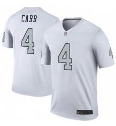 Men Las Vegas Raiders 4 Derek Carr White Legend Limited Jersey