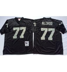 Men Las Vegas Raiders 77 Lyle Alzado Black M&N Throwback Jersey