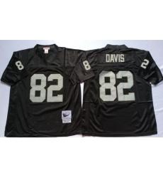 Men Las Vegas Raiders 82 Al Davis Black M&N Throwback Jersey