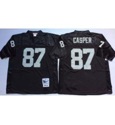 Men Las Vegas Raiders 87 Dave Casper Black M&N Throwback Jersey