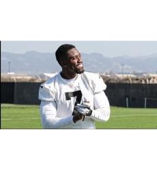 Mens Oakland Raiders Marquette King Custom Team Color Jersey