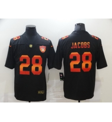 Nike Las Vegas Raiders 28 Josh Jacobs Black Colorful Fashion Limited Jersey
