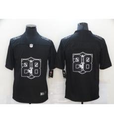 Nike Las Vegas Raiders 28 Josh Jacobs Black Shadow Logo Limited Jersey