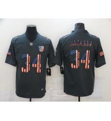 Nike Las Vegas Raiders 34 Bo Jackson 2019 Salute To Service USA Flag Fashion Limited Jersey