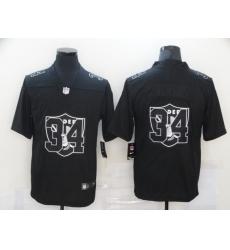 Nike Las Vegas Raiders 34 Bo Jackson Black Shadow Logo Limited Jersey