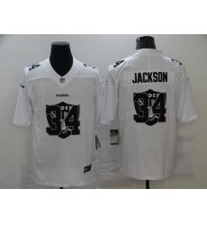 Nike Las Vegas Raiders 34 Bo Jackson White Shadow Logo Limited Jersey