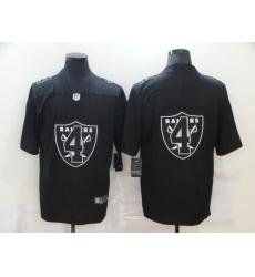 Nike Las Vegas Raiders 4 Derek Carr Black Shadow Logo Limited Jersey